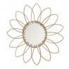 Espejo rattan natural flor moderno para salón de 55 cm