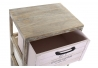 Cajonera paulownmia de madera con 4 cajones multicolor para dormitorio