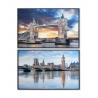 Set 2 cuadro en lienzo Londres 90x60 cm