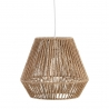 Lámpara de techo rústica con tulipa forrado fibra beige de 32 cm