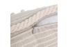 Cojín beige poliester 45x45 cm
