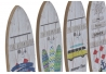 Set 4 cuadro de pared madera perchero vintage Surf Summer 22x7 cm .
