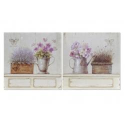 Set 2 cuadro de madera maceta regadera 30x30 cm