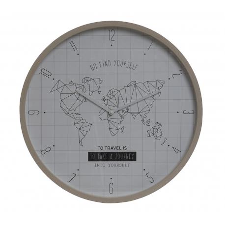 Reloj de pared mapamundo natural blanco nórdico para decoracion