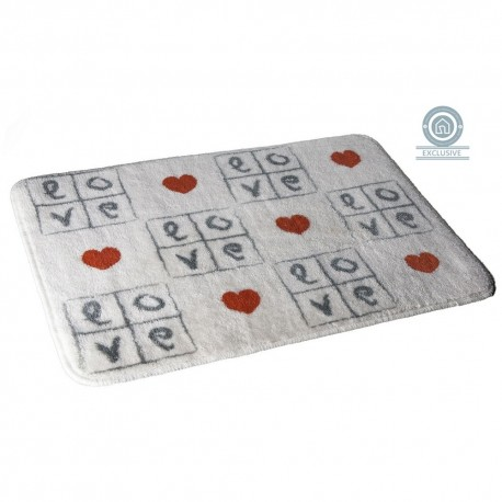 Alfombra baño romantica diseño love 45x70 cm