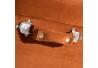 Banqueta baúl de terciopelo vintage naranja de 50x35x45 cm
