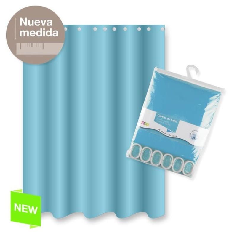Cortina Ba O Poliester Azul Color Basica 180x200 Cm