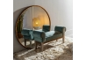 Banqueta pie de cama tapizada de terciopelo y de madera clásica azul de 104x30x54 cm