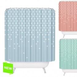 Cortina de baño moderna diseño estrellas 100% poliester 180 x 200cm