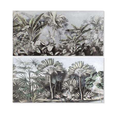 Set 2 cuadro lienzo selva tropical