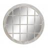Espejo de madera decape blanco 90 cm