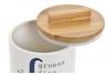 Salero y azucarero dolomite con tapa de bambu