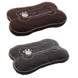 Camas de mascotas de algodon en forma de hueso 75 cm