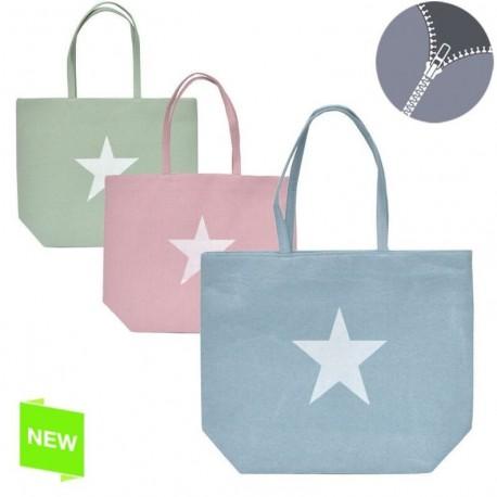 Bolso de mujer moderno diseño estrella colores con cremallera
