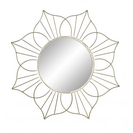Espejo metal de pared dorado exagonal 62 cm