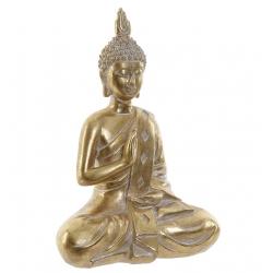 Figura buda resina dorado decoracion 24 cm