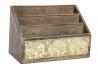 Organizador cartas de madera mango tallada decape elefante