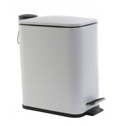 Papelera de baño de metal blanca 5L