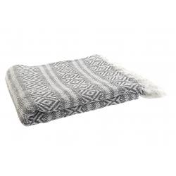 Plaid de sofa algodon rombos gris 170x130 cm