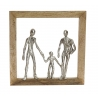 Decoracion pared madera mango 30x5x30 cm Familias