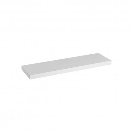 Estante de pared de madera blanco nórdico de 80x23x4 cm