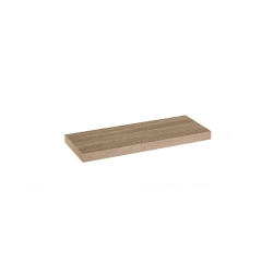 Estante de pared de madera marrón nórdico de 60x23x4 cm