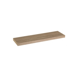 Estante de pared de madera marrón nórdico de 80x23x4 cm