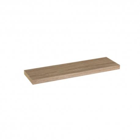 Estante de pared de madera marrón nórdico de 80x23x4 cm