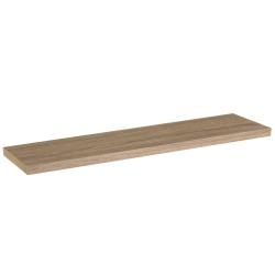 Estante de pared de madera marrón nórdico de 120x23x4 cm