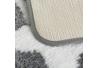 Set 2 Alfombra baño microfibra estrella 40x60 cm