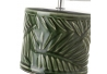 Lámpara de mesita de noche de hojas exótica de cerámica verde de 32 cm