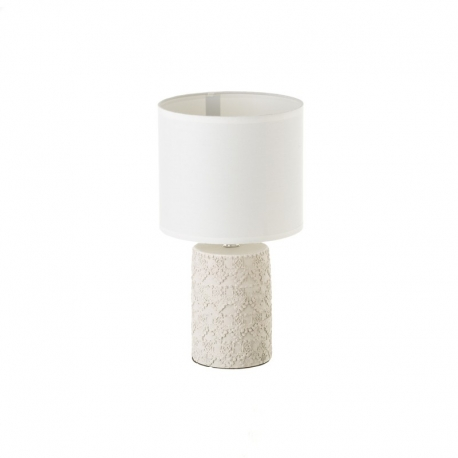 Lámpara de mesa de cemento beige 18,50x18,50x33 cm