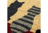 Felpudo 40X60 coco fibra gatos home .