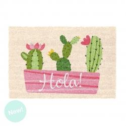 Felpudo original de Hola cactus para Entrada 40x70 cm