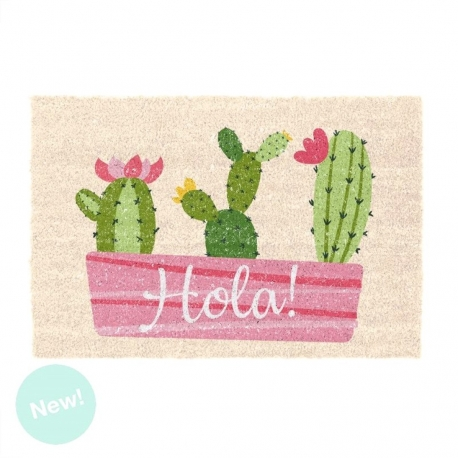 Felpudo original de Hola cactus para Entrada 40x60 cm