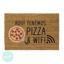 Felpudo original Aqui tenemos pizza y wifi 40x70 cm