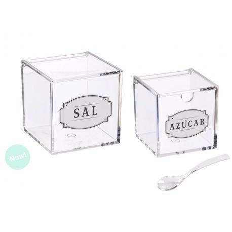 Salero y azucarero de cocina acrilico diseño Sal Y Azucar