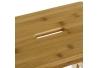 Taburete escalera nórdico marrón de bambú de 2 alturas de 42x43x47 cm