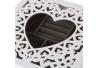 Joyero con bandeja de madera blanco romántico para dormitorio Vitta