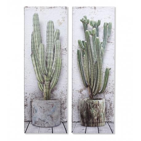 Set 2 cuadro lienzo Cactus
