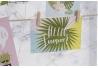 Portafotos lienzo tropical con 10 pinzas para foto