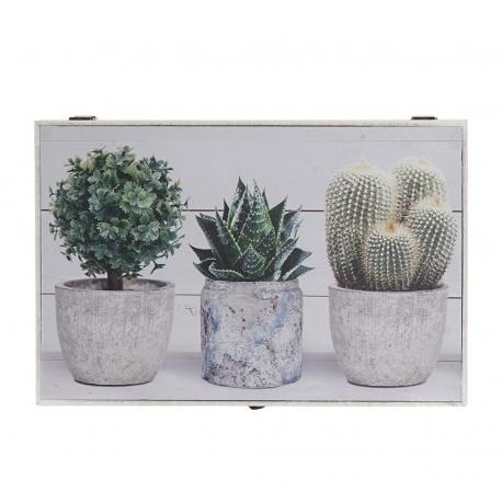 Tapa de contador diseño lienzo cactus verde