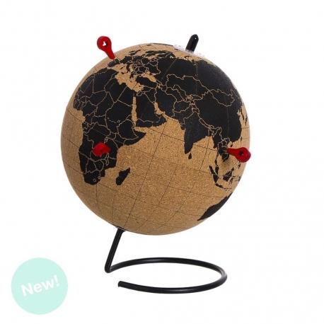 Bola Mapamundo de corcho con Chinchetas negro