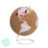 Bola Mapamundo de corcho con Chinchetas blanco