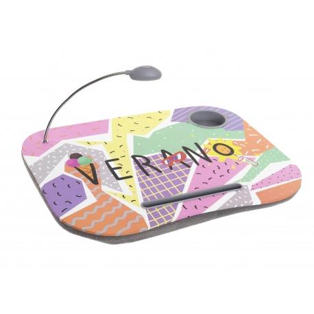 Bandeja para portatil con luz de led MEMPHIS multicolor verano