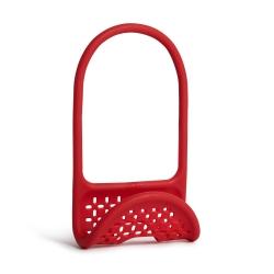 Organizador de utensilios de cocina, metal, color rojo