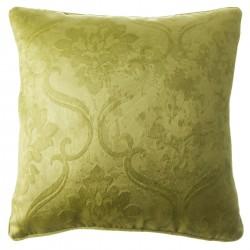 "Cojín rustico ""damasco"" verde 45 x 45 cm"