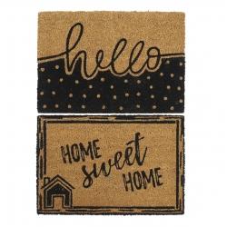 Pack 2 Felpudo 40x60 Home y hello