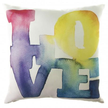 """Cojín romantico cuadrado """"color love"""" multicolor 45 x 45 cm impreso alta calidad"""