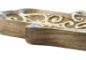 Bandeja vaciabolsillos mano de madera mango hamsa tallado
